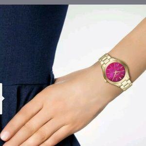 Michael Kors Mini Slim Gold Watch MK3707